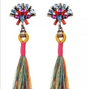Boho color blend Tassel Earrings